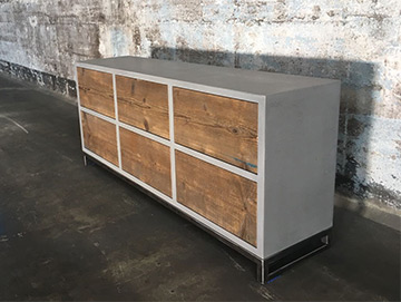 Beton-Sideboard Berlin Six Box