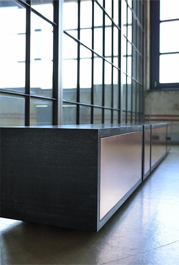 beton lowboard copper betonm bel manufaktur. Black Bedroom Furniture Sets. Home Design Ideas