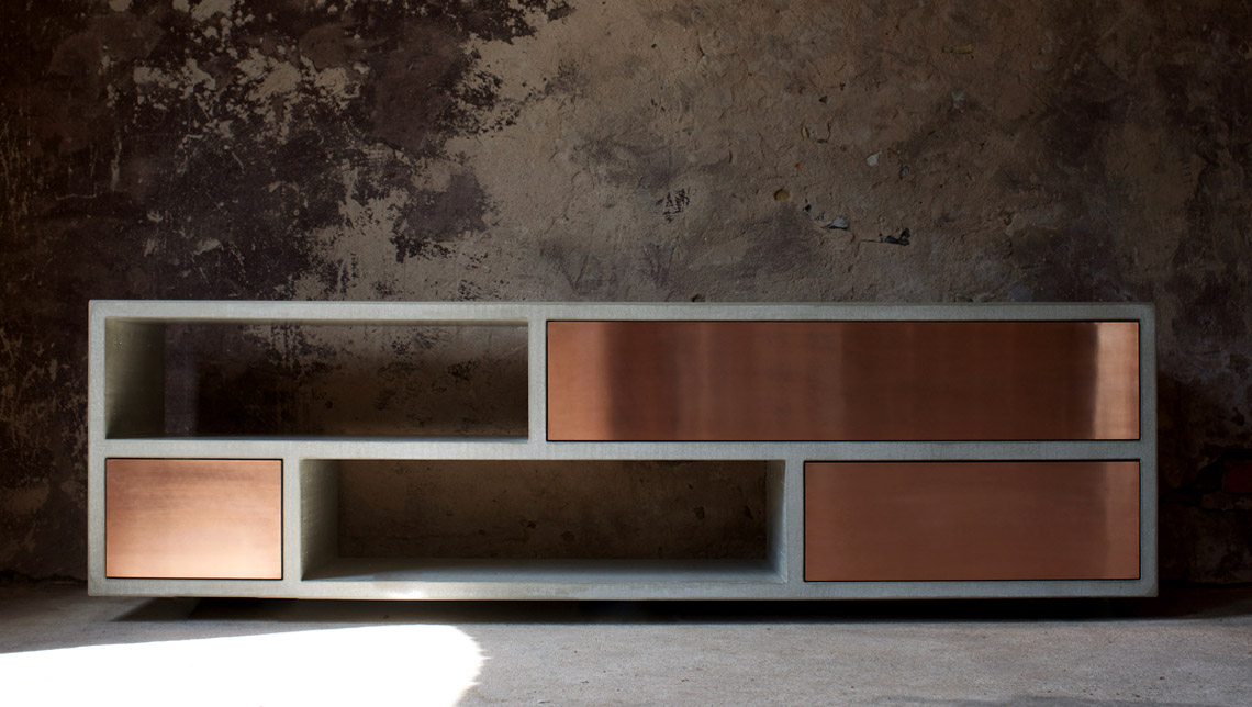 beton sideboard copperbox betonm bel formdimensionen. Black Bedroom Furniture Sets. Home Design Ideas