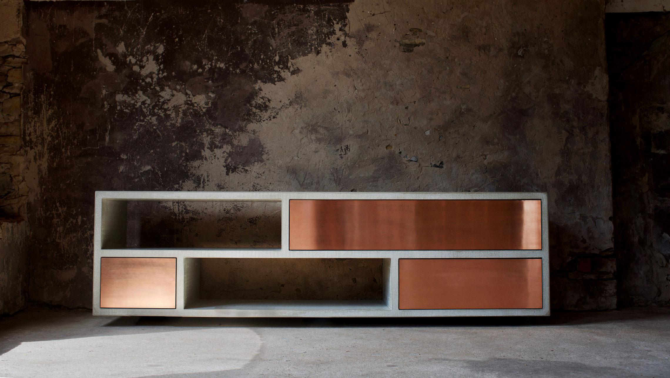 Beton Sideboard Copperbox Betonmobel Manufaktur