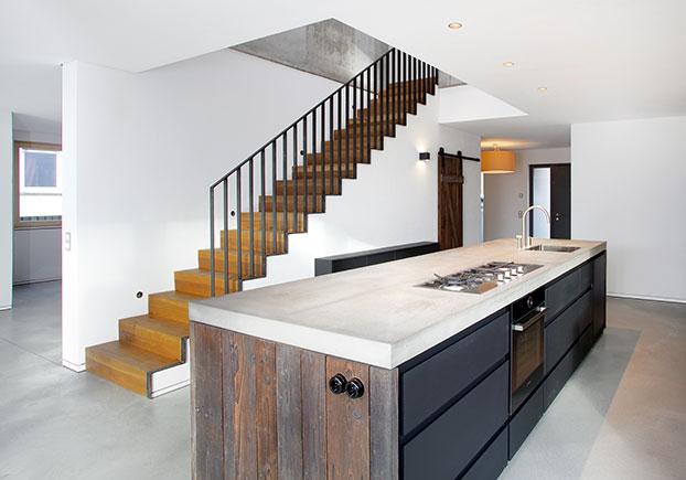 Küche mit Betonarbeitsplatte - Betonmöbel Manufaktur