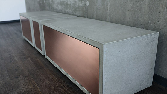 »Concrete Lowboard Copper«